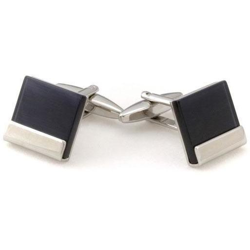 Black Ice Cateye Cufflinks Classic & Modern Cufflinks Clinks Australia Black Ice Cateye Cufflinks
