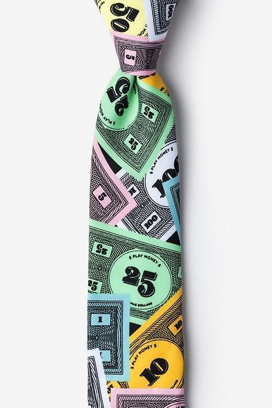 Play Money Skinny Tie