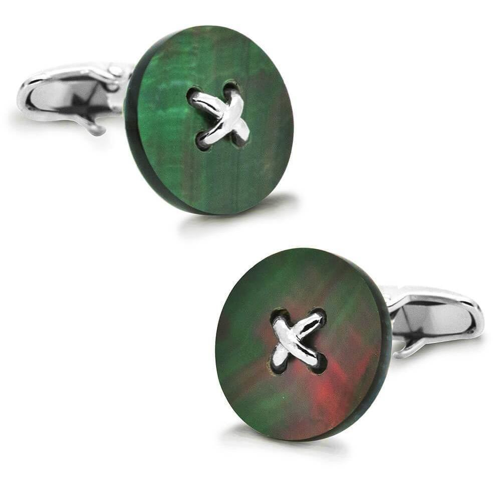 Black Mother of Pearl Button Cufflinks, Classic & Modern Cufflinks, Cuffed.com.au, CL2355, $29.00