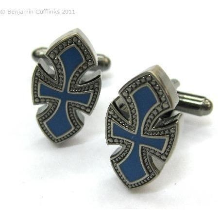 Blue Cross Cufflinks Vios