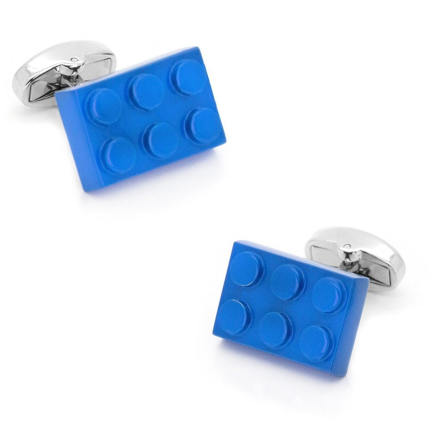 Blue Building Block Cufflinks, Novelty Cufflinks, Cuffed.com.au, CL8714, $29.00