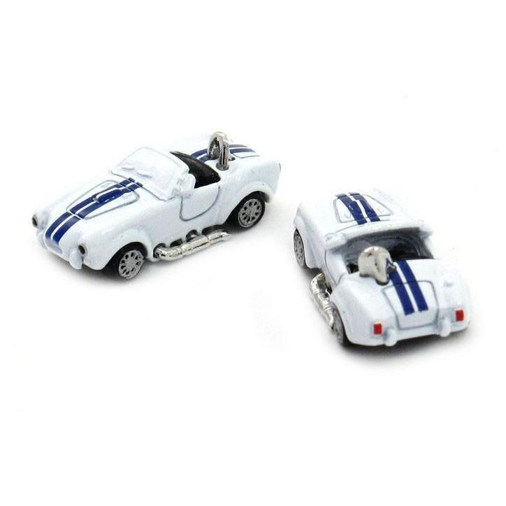 Blue White Classic Sports Car Cufflinks (AC Shelby Cobra), Novelty Cufflinks, Cuffed.com.au, CL6560, $29.00