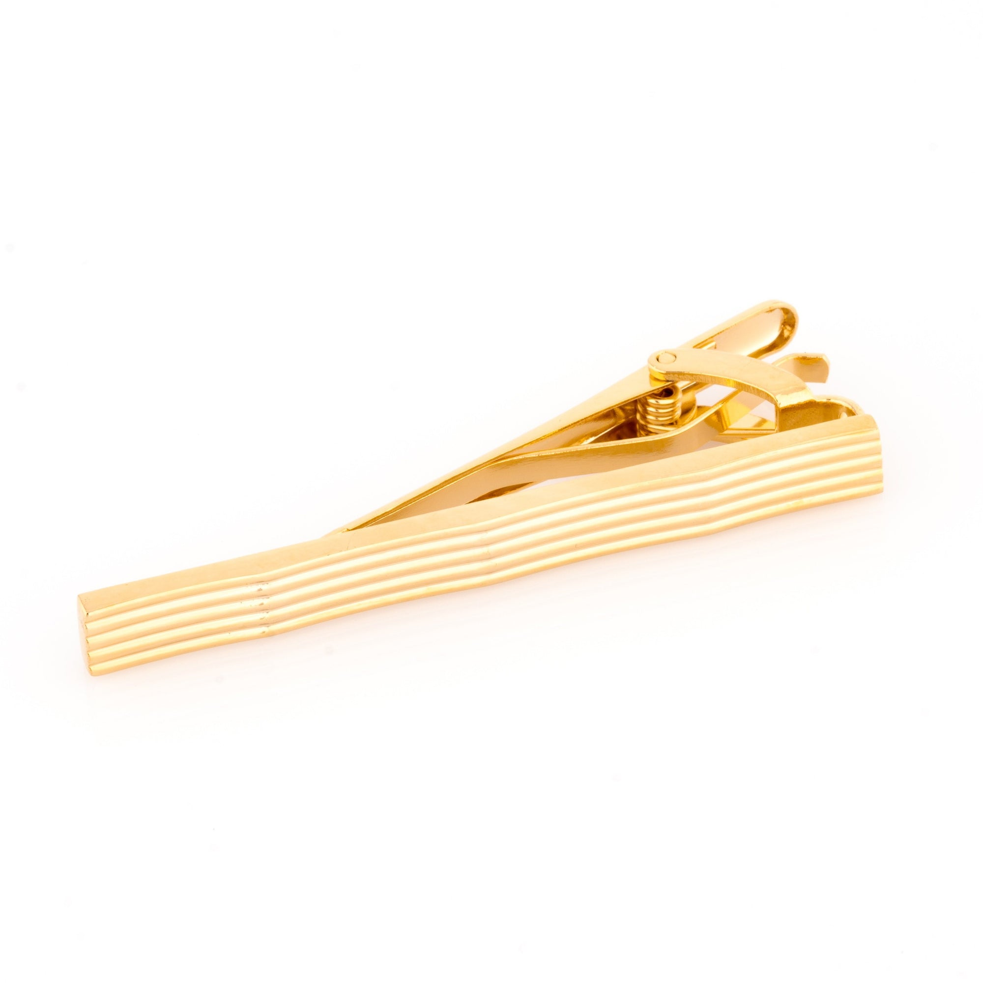 Gold Lines with Waves Tie Clip Tie Bars Clinks Australia Gold Lines with Waves Tie Clip