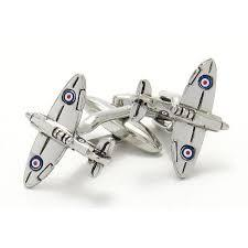 """Spitfire"" Airplane Cufflinks, Novelty Cufflinks, Cuffed.com.au, CL6830, Aviation, Military, Military & Weaponry, Clinks Australia"