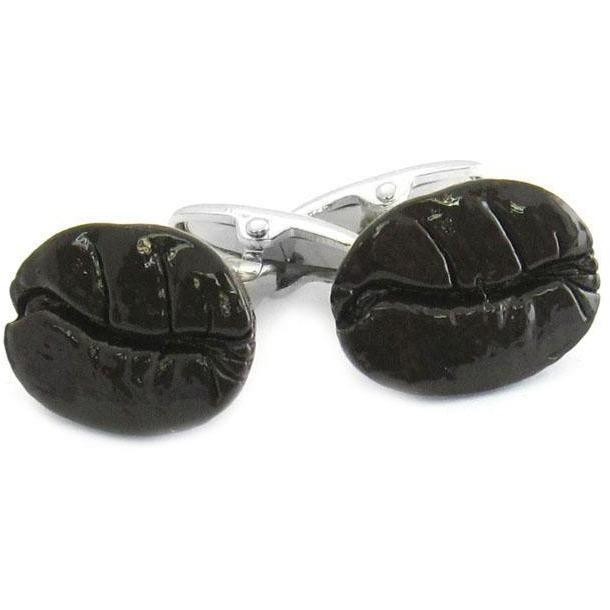 Brown Coffee Bean Cufflinks, Novelty Cufflinks, Cuffed.com.au, CL6103, $29.00