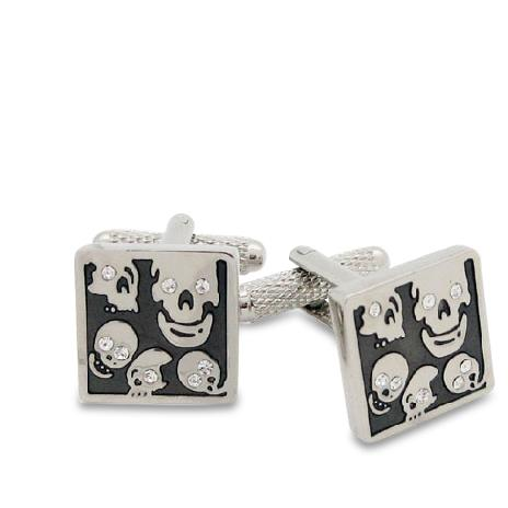 Cheerful Skulls in a Square Cufflinks
