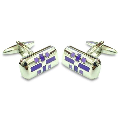 Purple Aztec Design Cufflinks Classic & Modern Cufflinks Clinks Australia Purple Aztec Design Cufflinks