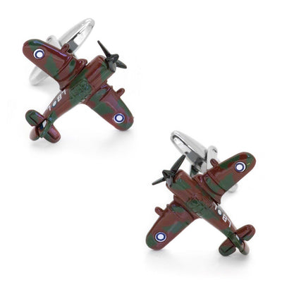 CAC Boomerang Fighter Airplane Cufflinks Camouflage Clinks Australia