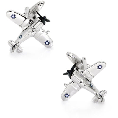 CAC Boomerang Fighter Airplane Cufflinks in Silver Novelty Cufflinks Clinks Australia CAC Boomerang Fighter Airplane Cufflinks in Silver