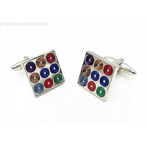 CD Spinner Multi Cufflinks GTR