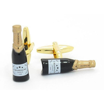 """Cheers"" Champagne Gold Cufflinks Clinks Australia"