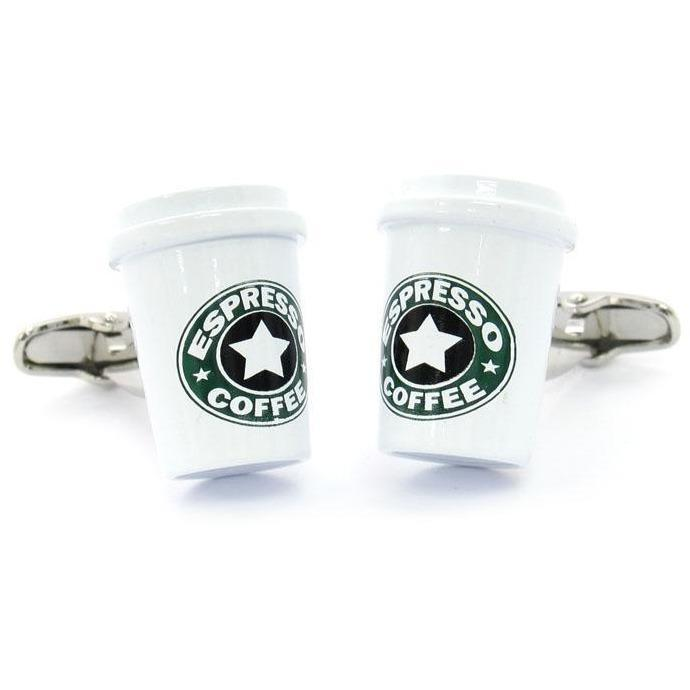 Coffee Cup Cufflinks, Novelty Cufflinks, Cuffed.com.au, CL6100, $29.00