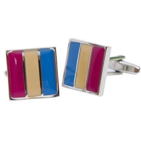 Colour Brisbane Lions AFL Cufflinks, Novelty Cufflinks, Cuffed.com.au, CL5011, $44.00