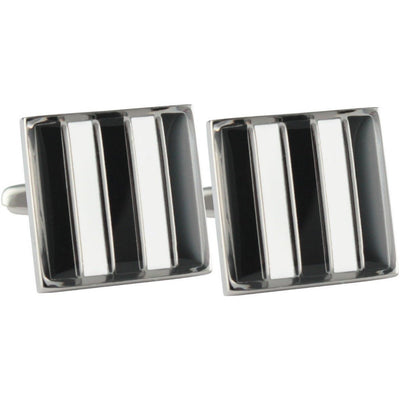 Colour Collingwood FC ALF Cufflinks Novelty Cufflinks AFL Colour Collingwood FC ALF Cufflinks