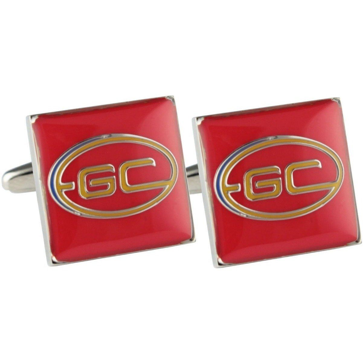 Colour Gold Coast Suns Cufflinks, Novelty Cufflinks, Cuffed.com.au, CL5041, $44.00