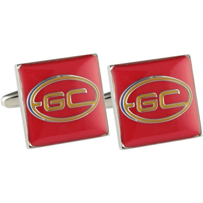 Colour Gold Coast Suns Cufflinks Novelty Cufflinks AFL Colour Gold Coast Suns Cufflinks
