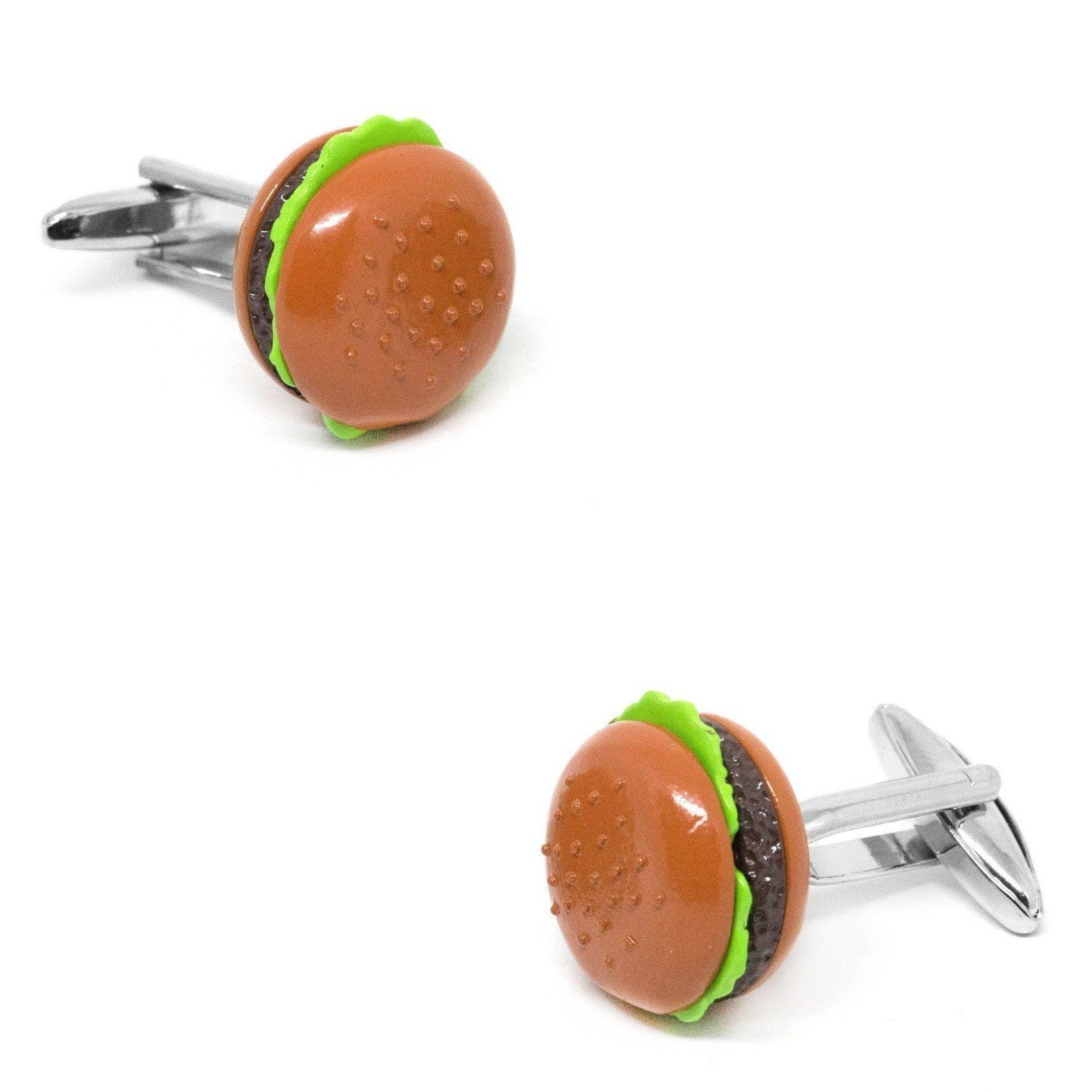 Colour Hamburger Cufflinks, Novelty Cufflinks, Cuffed.com.au, CL6135, $29.00
