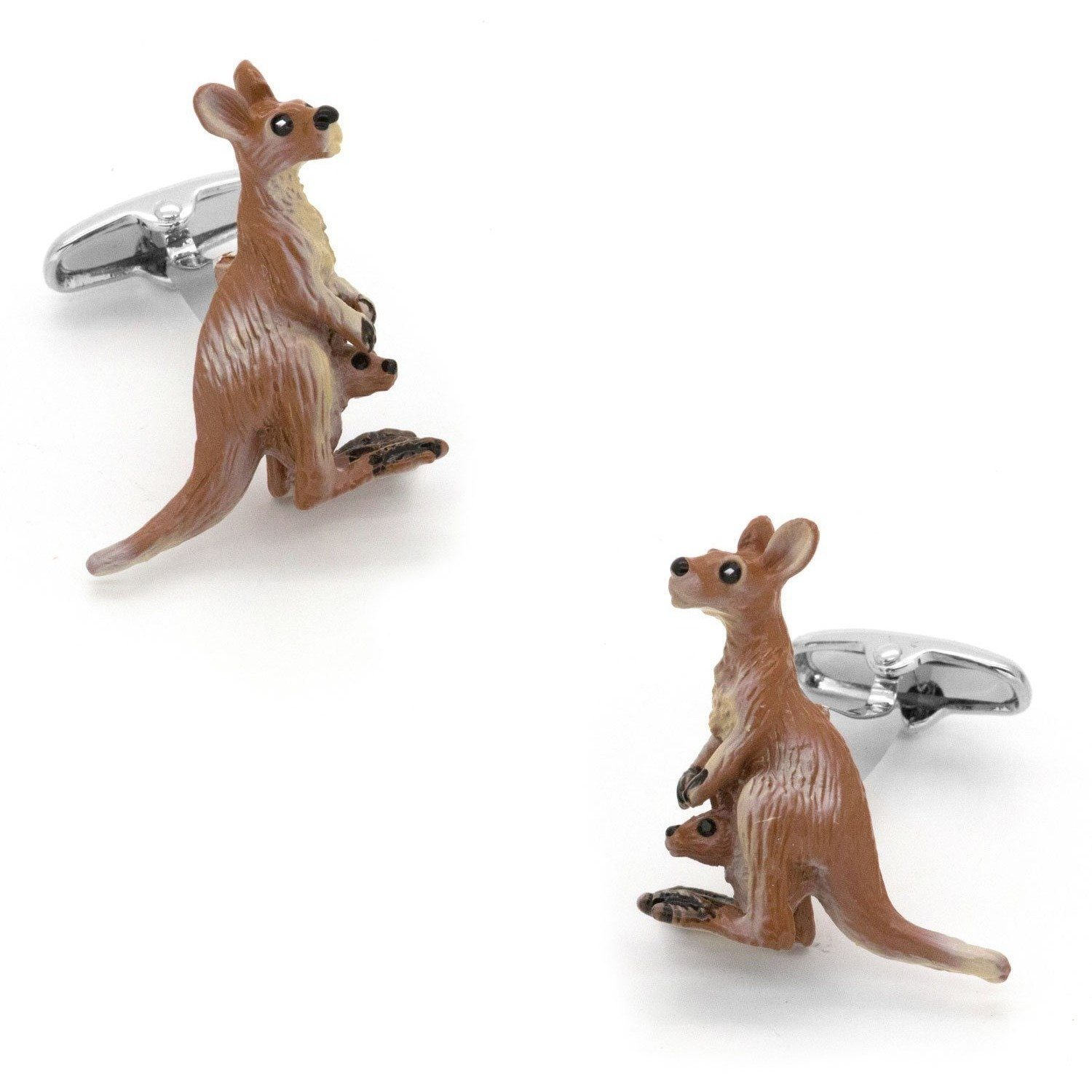 Colour Kangaroo Cufflinks, Novelty Cufflinks, Cuffed.com.au, CL7055, $29.00
