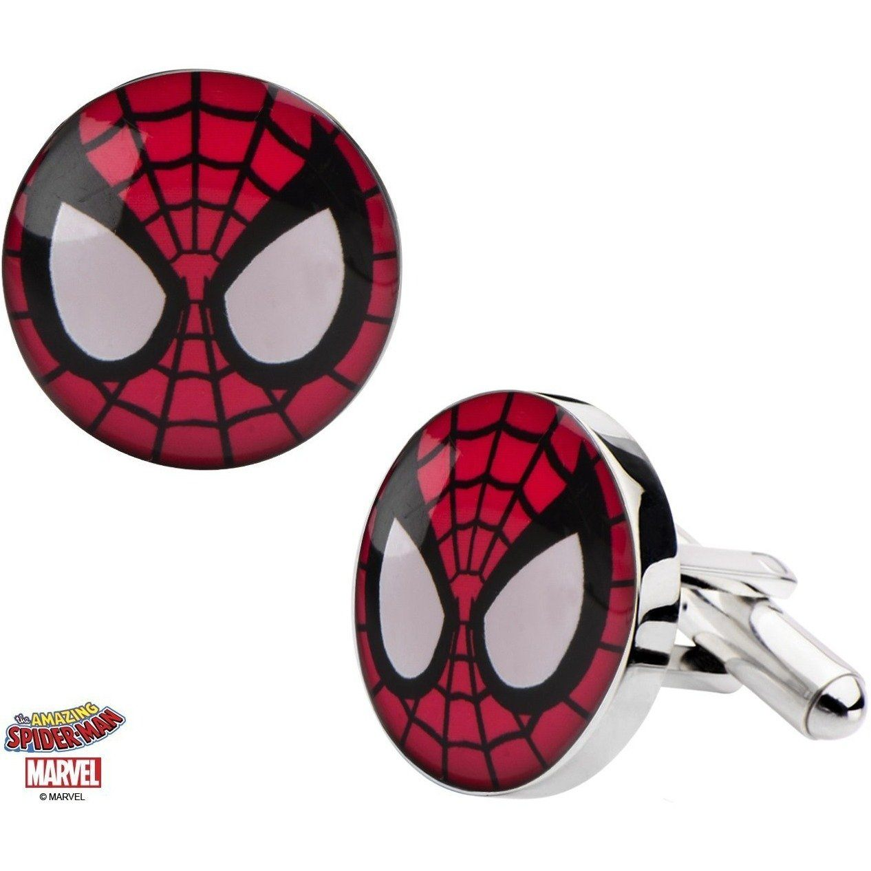 Colour Spiderman Cufflinks, Novelty Cufflinks, Cuffed.com.au, CL5858, $65.00