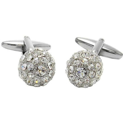 Crystal Cluster Ball Cufflinks Clear Classic & Modern Cufflinks Clinks Australia Crystal Cluster Ball Cufflinks Clear