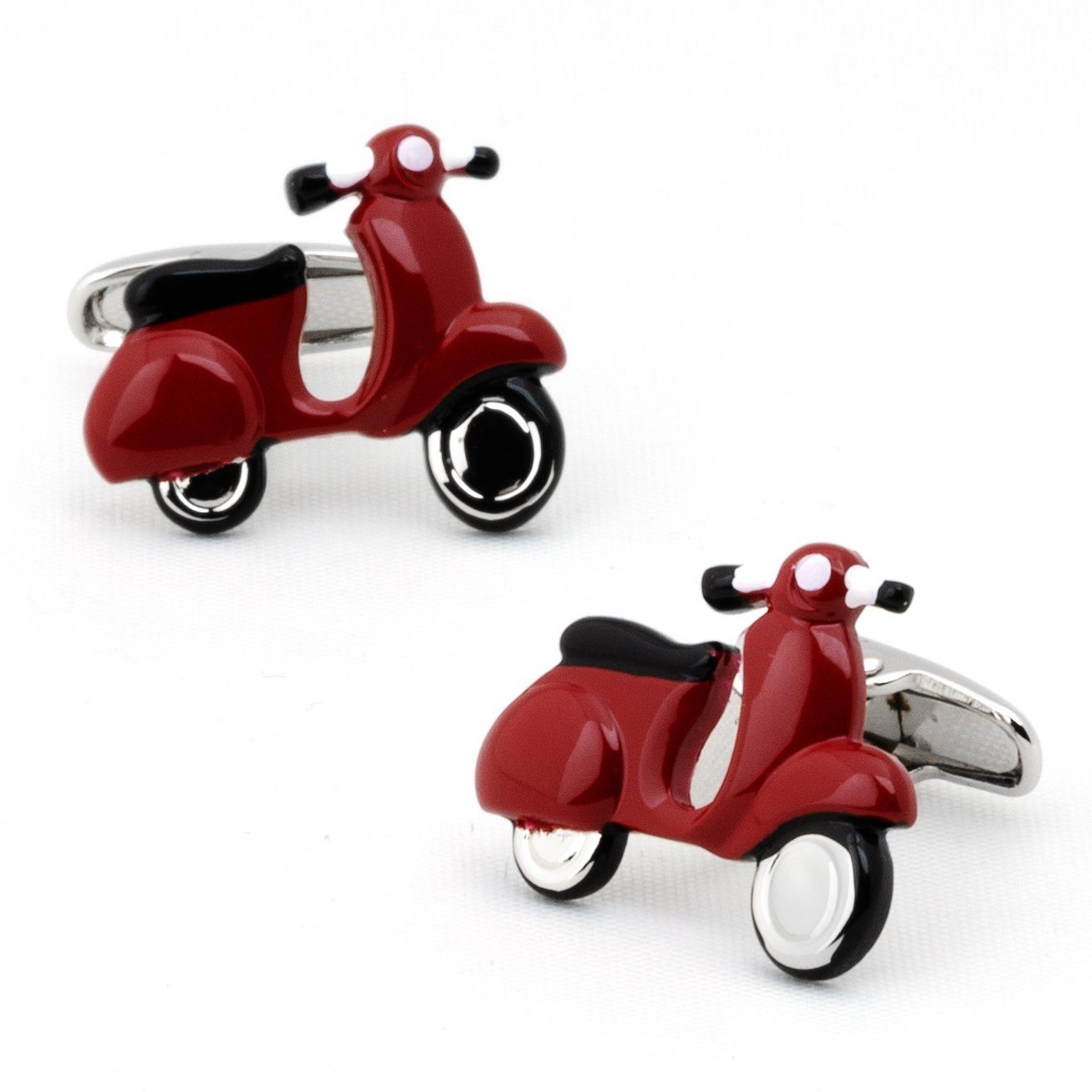 Red Scooter Cufflinks Novelty Cufflinks Clinks Australia Red Scooter Cufflinks