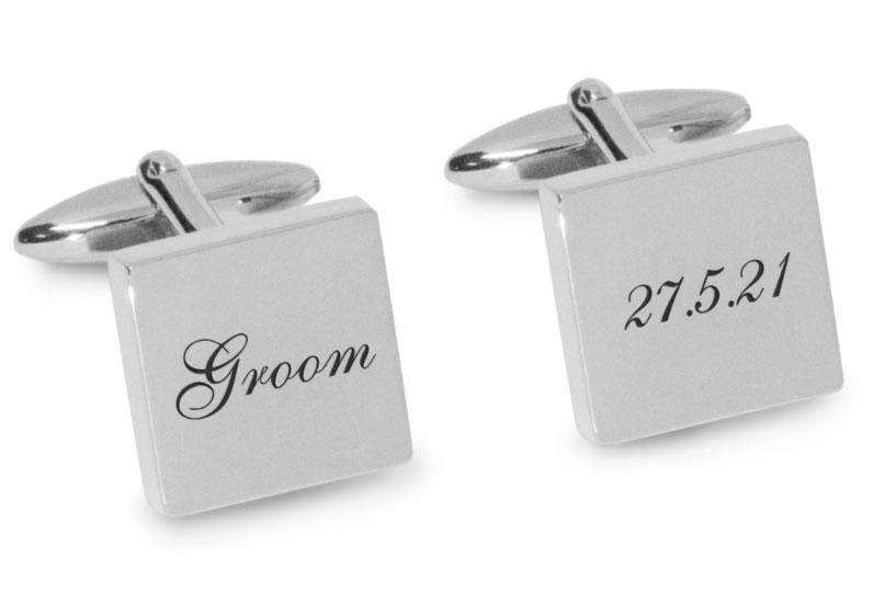 Groom Wedding Date Cufflinks Engraving Cufflinks Clinks Australia Silver Black