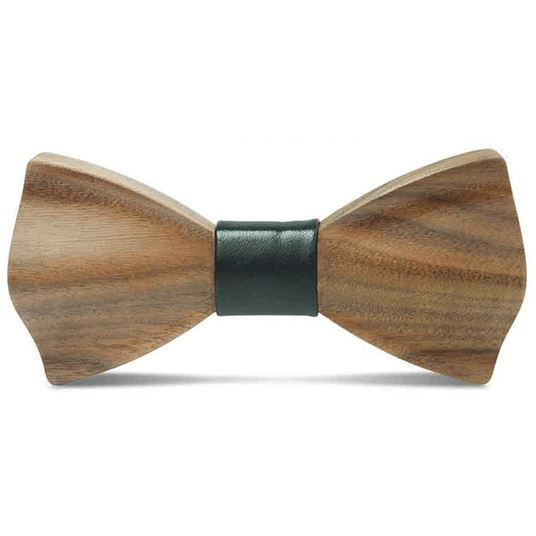 Dark Wood Black Leatherette Adult Bow Tie Bow Ties Clinks Australia Dark Wood Black Leatherette Adult Bow Tie