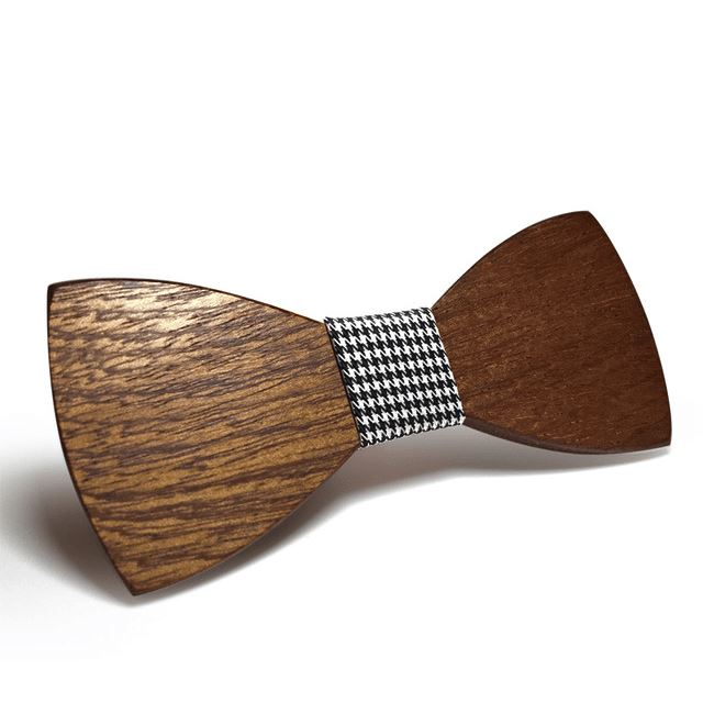 Dark Wood Houndstooth Adult Bow Tie Bow Ties Clinks Australia Dark Wood Houndstooth Adult Bow Tie