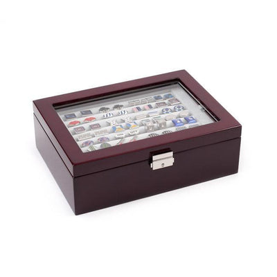 72 Pair Double Decker Mahogany Cufflink Box , Storage Boxes Clinks Australia , CB3060 , Mahogany Cufflink Box , Cuffed , Clinks