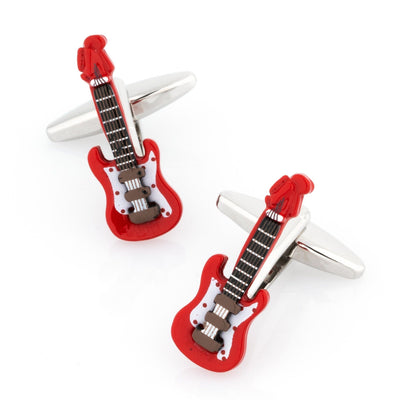 Red Electric Guitar Cufflinks Novelty Cufflinks Clinks Australia Red Electric Guitar Cufflinks