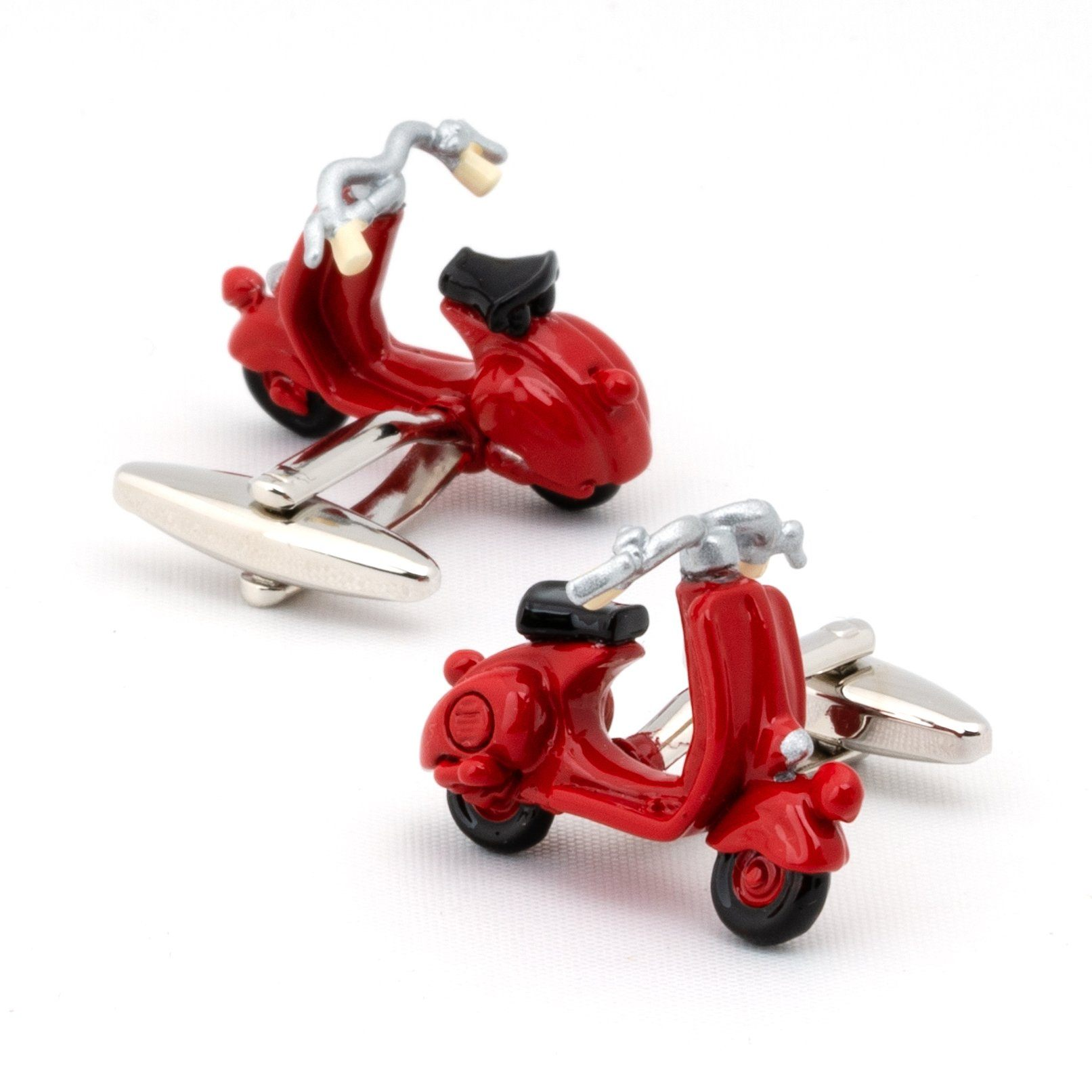 Red 3D Vespa Scooter Cufflinks Novelty Cufflinks Clinks Australia Red 3D Vespa Scooter Cufflinks