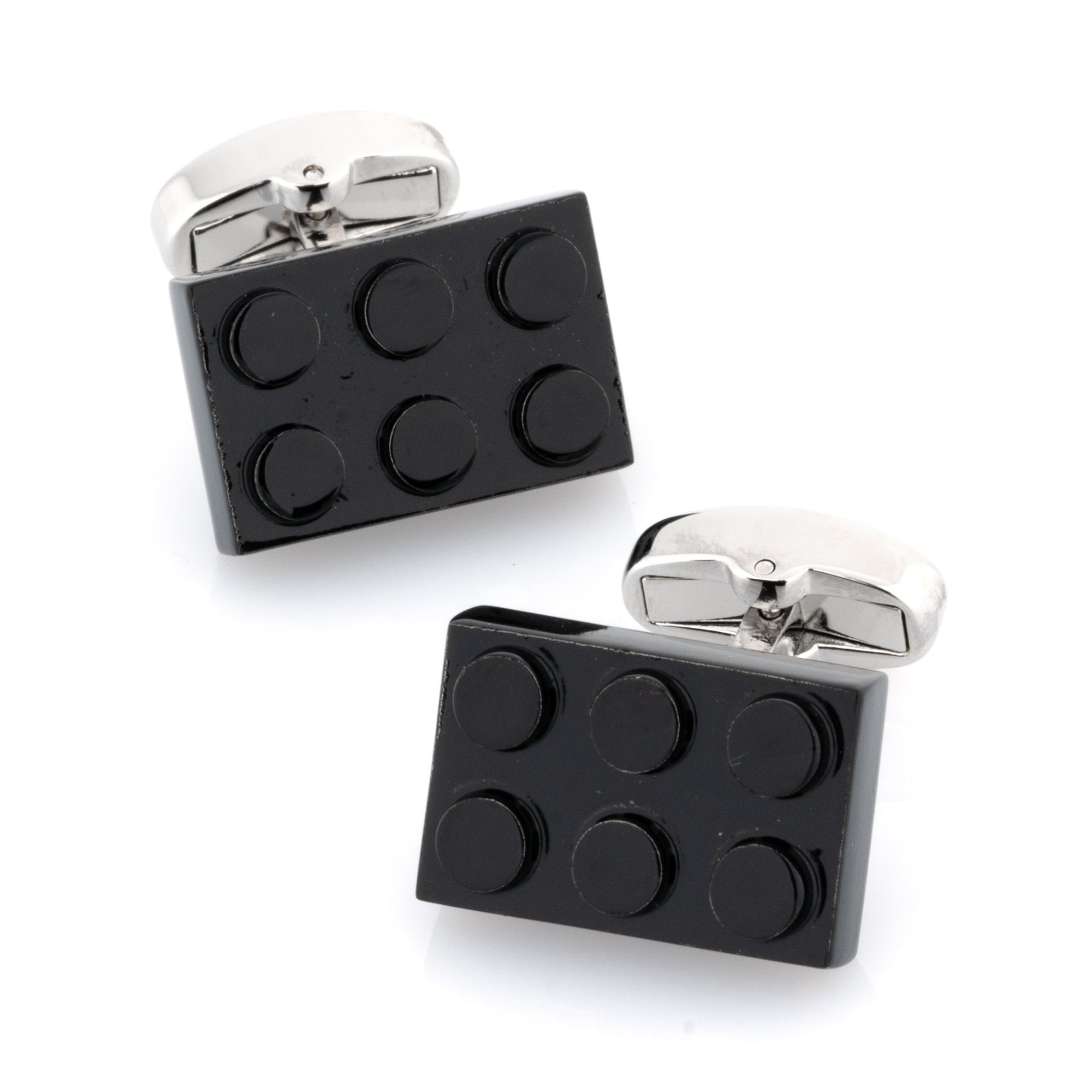 Black Building Block Cufflinks, Novelty Cufflinks, CL8710, Mens Cufflinks, Cufflinks, Cuffed, Clinks, Clinks Australia