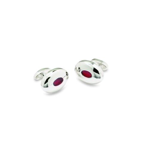Oval Feature Red Cufflinks Classic & Modern Cufflinks Clinks Australia Oval Feature Red Cufflinks