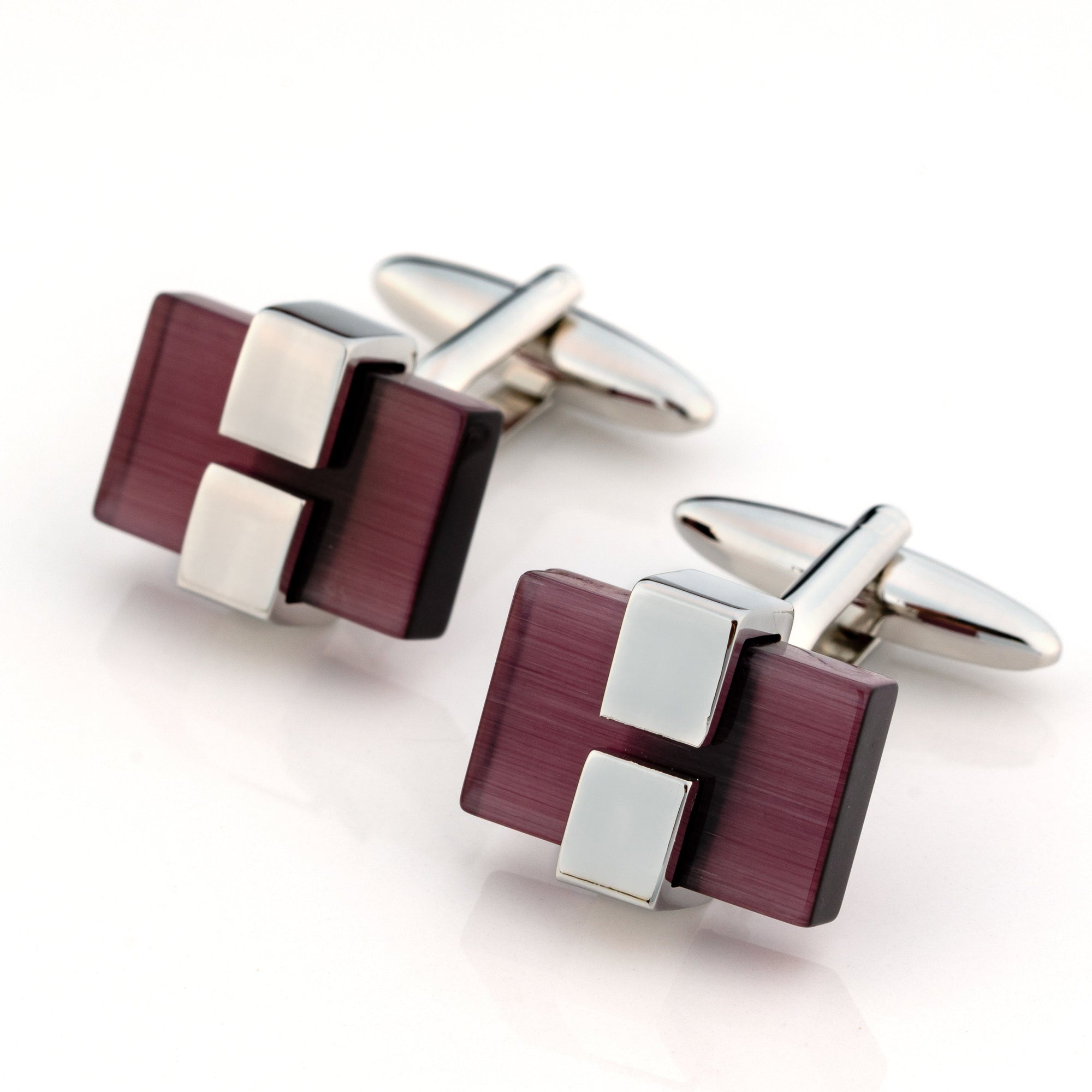 Charcoal Ice Cateye Cufflinks Classic & Modern Cufflinks Clinks Australia