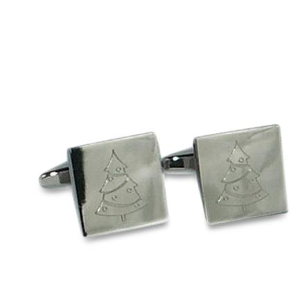 Christmas Tree (Engraved) Cufflinks