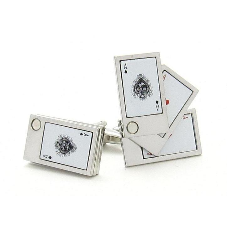"""Flip Out"" Playing Cards Cufflinks, Novelty Cufflinks, Cuffed.com.au, CL6205, $29.00"