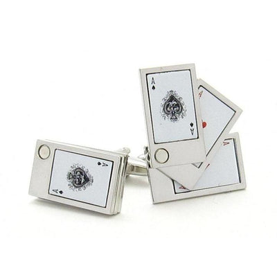 """Flip Out"" Playing Cards Cufflinks Clinks Australia"
