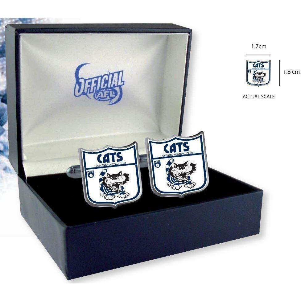 Geelong Cats Heritage AFL Cufflinks Novelty Cufflinks AFL Geelong Cats Heritage AFL Cufflinks