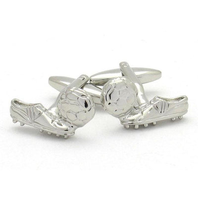 """Goal"" Soccer Ball & Boot Cufflinks , Novelty Cufflinks Clinks Australia , CL4280 , Mens Cufflinks , Cufflinks , Clinks , Cuffed"