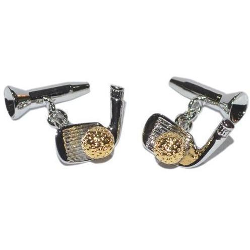 Golf Set (chain) Cufflinks, Novelty Cufflinks, Cuffed.com.au, ZBC1862, Sports, Clinks Australia