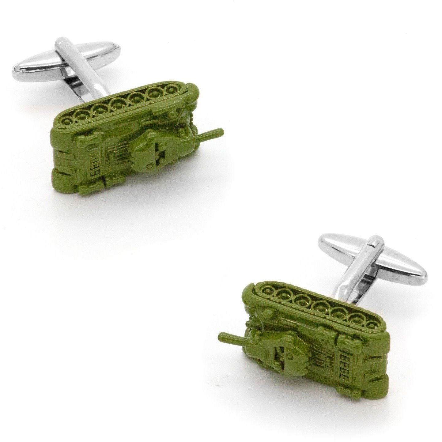 Green Army Tank Cufflinks, Novelty Cufflinks, Cuffed.com.au, CL6640, Automotive, Military, Military & Weaponry, Clinks Australia