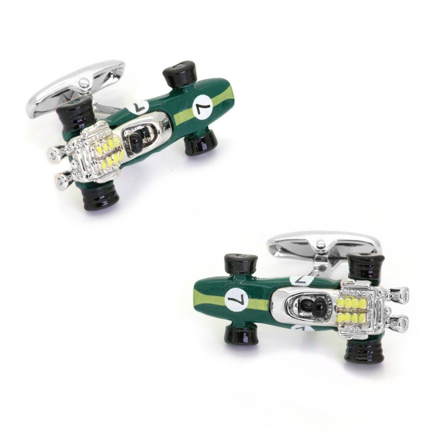 Green Lotus Racing Car Cufflinks Type 49 1967, Novelty Cufflinks, Cuffed.com.au, CL6542, $29.00