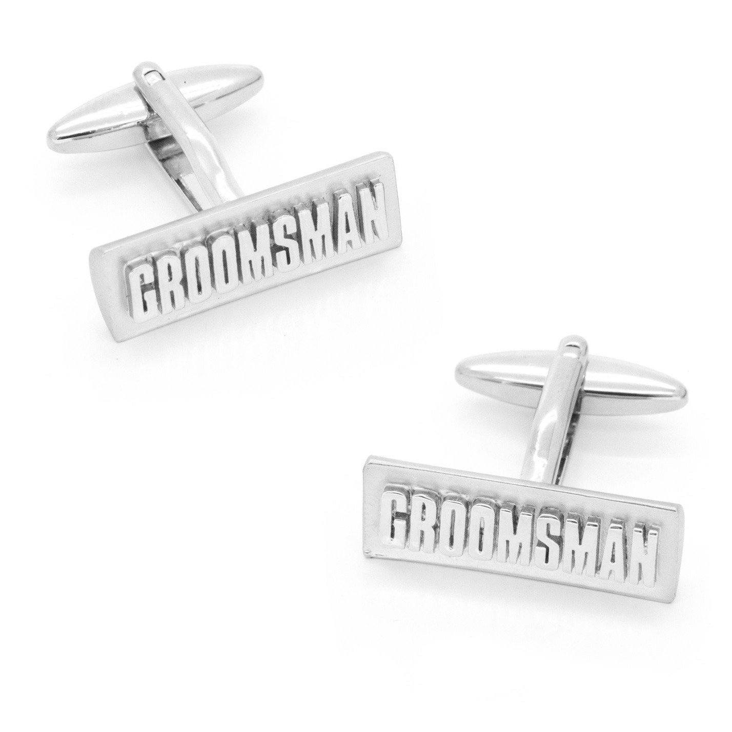 Groomsman Raised Lettering Cufflinks, Wedding Cufflinks, Cuffed.com.au, CL9552, $29.00