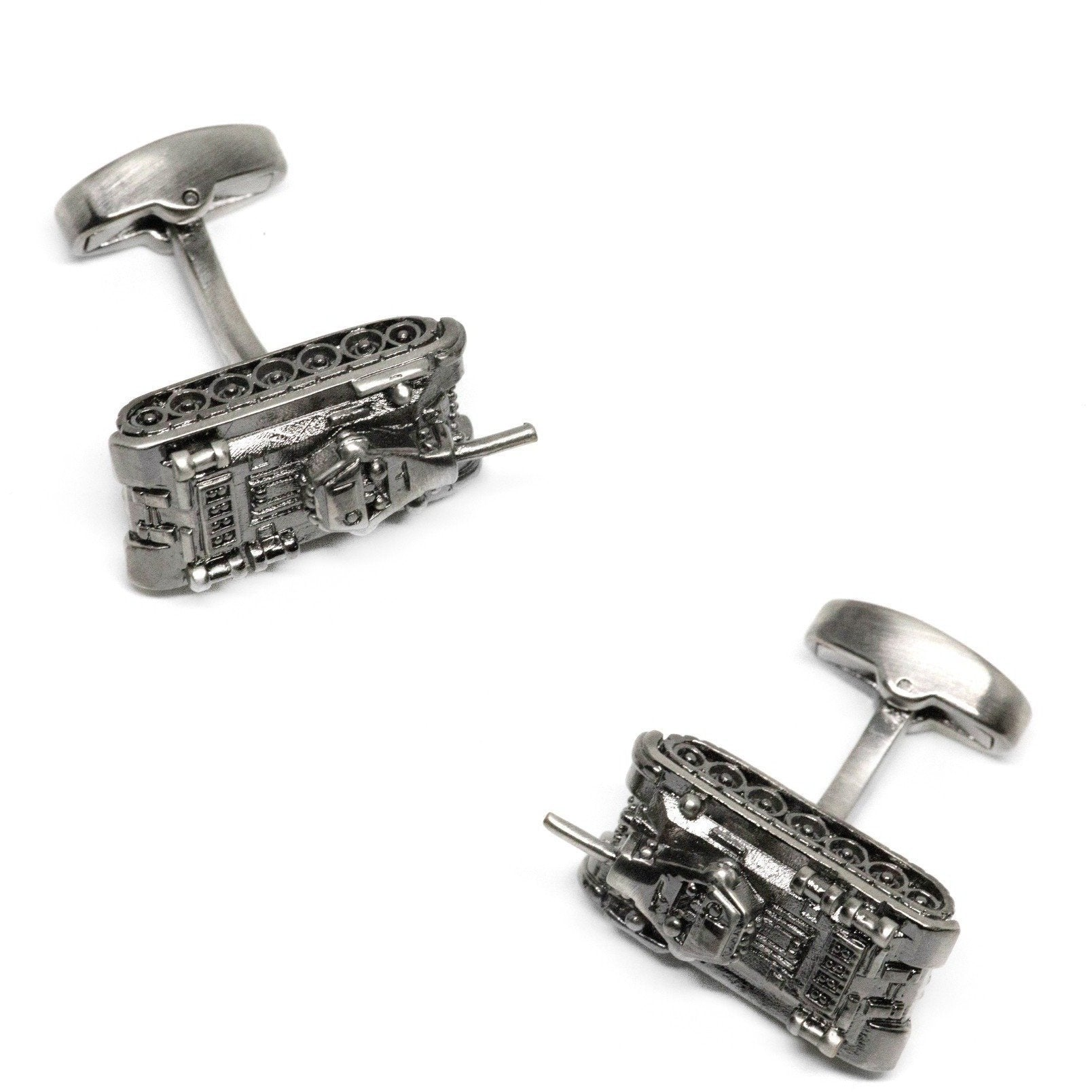 Gunmetal Army Tank Cufflinks, Novelty Cufflinks, Cuffed.com.au, CL6641, Automotive, Military, Military & Weaponry, Clinks Australia