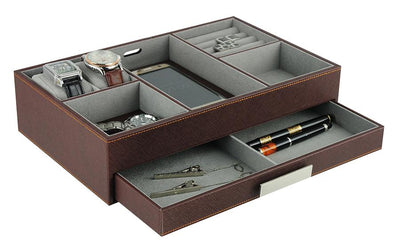 Executive Valet Tray in Brown Storage Boxes Clinks Australia