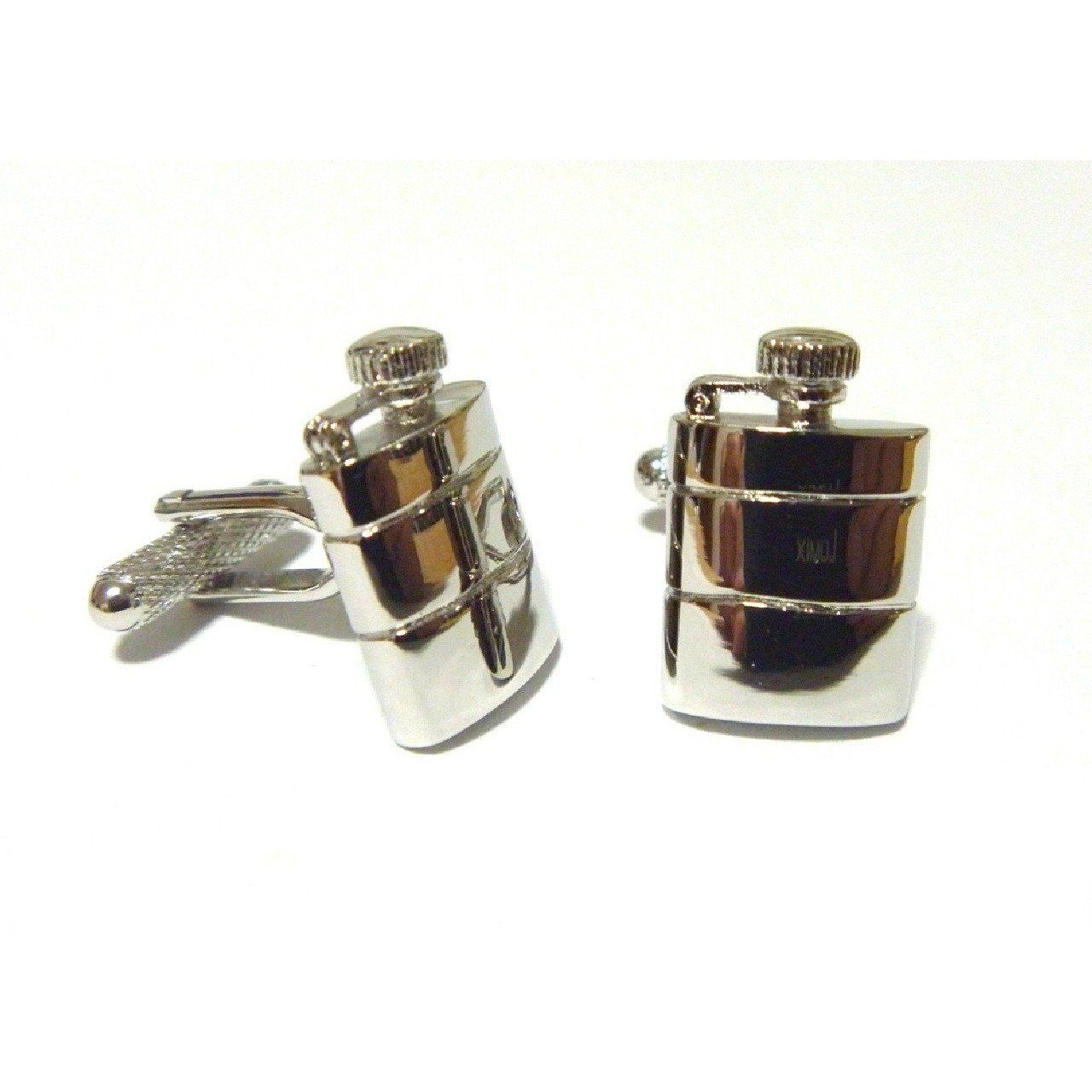 Hip Flask Cufflinks, Novelty Cufflinks, Cuffed.com.au, ZBC1965, $38.50