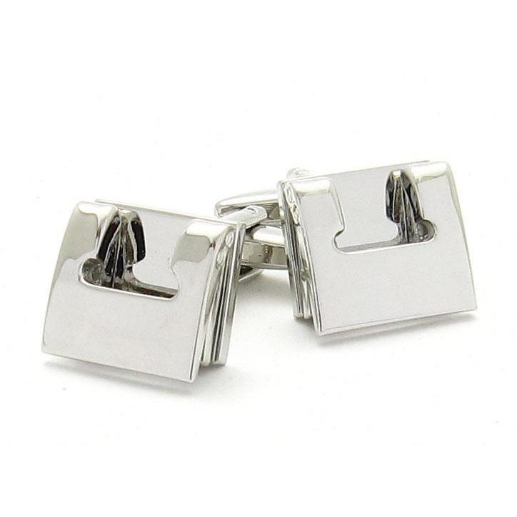 Hole Punch Silver Cufflinks, Novelty Cufflinks, Cuffed.com.au, CL9000, $29.00