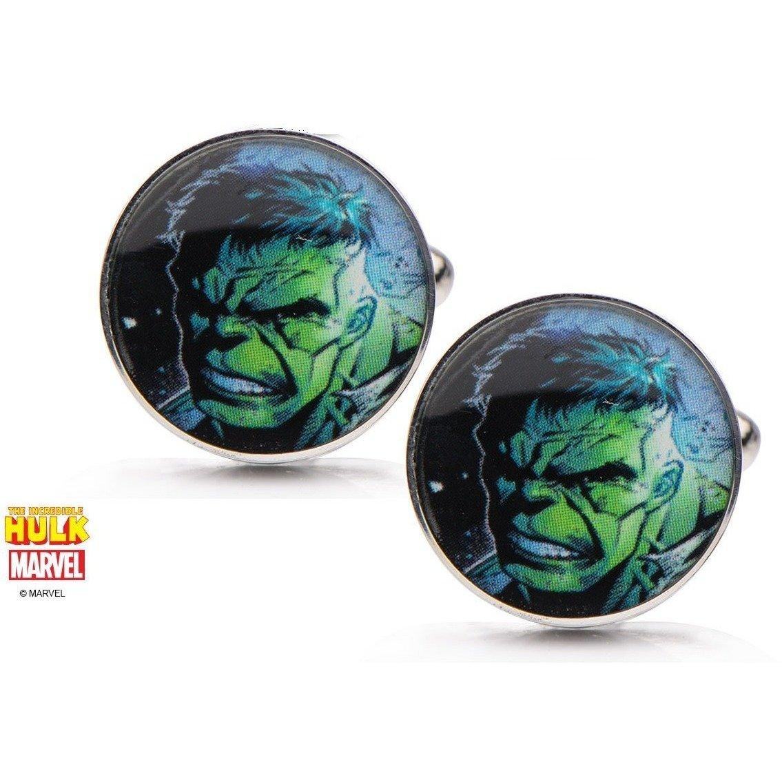 Hulk Face Cufflinks in Stainless Steel, Novelty Cufflinks, Cuffed.com.au, CL5859, $65.00