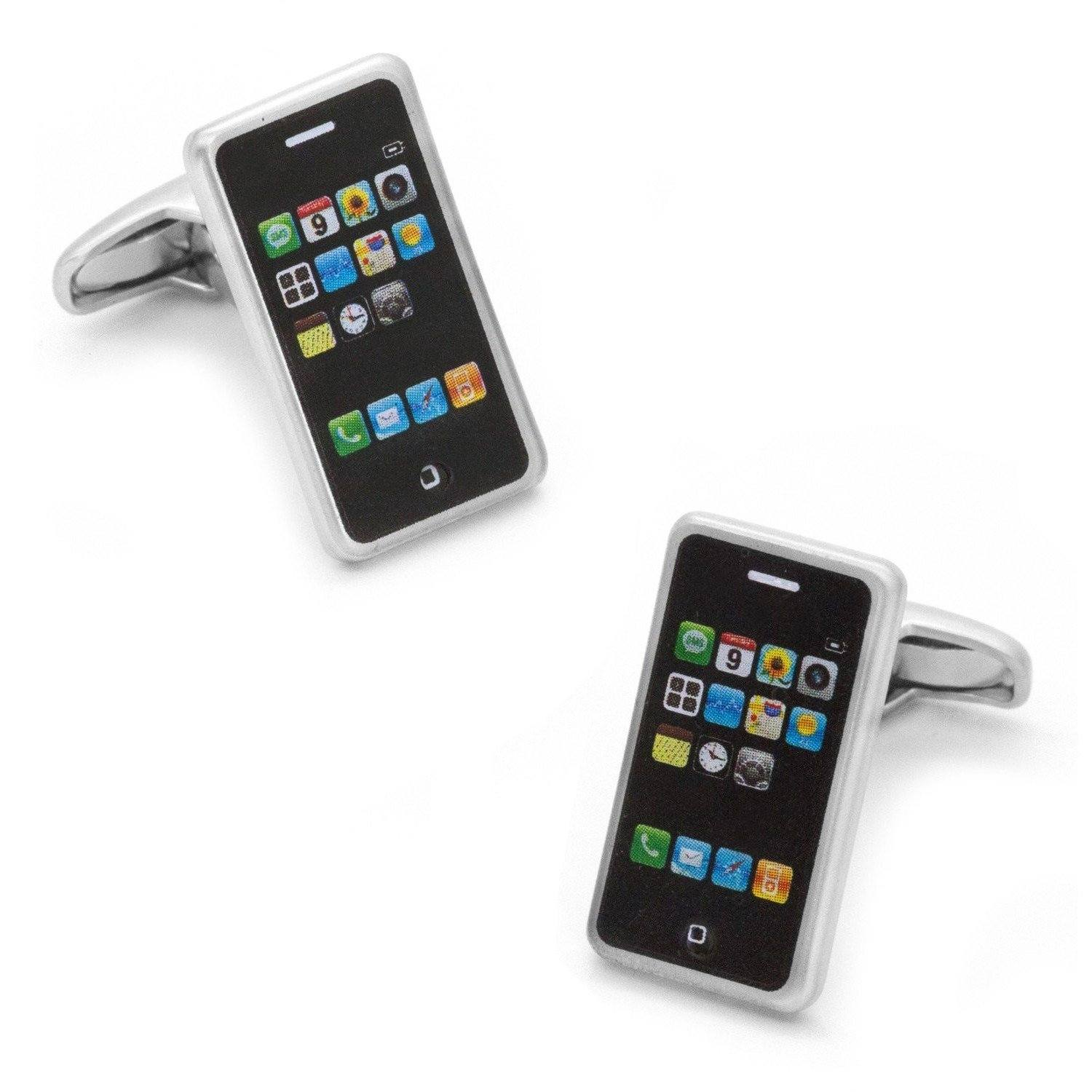 iPhone Mobile Phone Brushed Silver Cufflinks Novelty Cufflinks Clinks Australia iPhone Mobile Phone Brushed Silver Cufflinks
