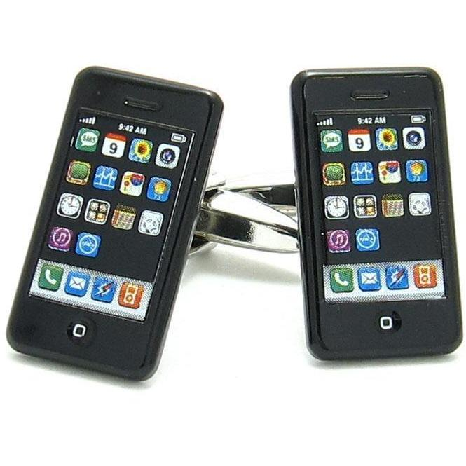 iPhone Mobile Phone Cufflinks Novelty Cufflinks Clinks Australia iPhone Mobile Phone Cufflinks